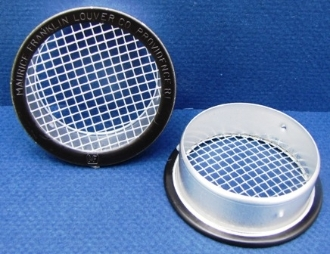 "round black open 1/8"" screen vent"