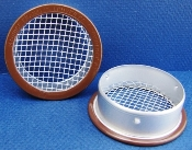 "round brown open 1/8"" screen vent"