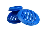 blue perforated plastic vent