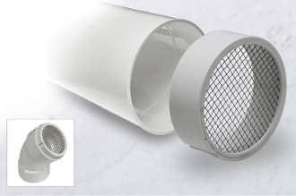 Image of PVC termination vent with stainless steel screen